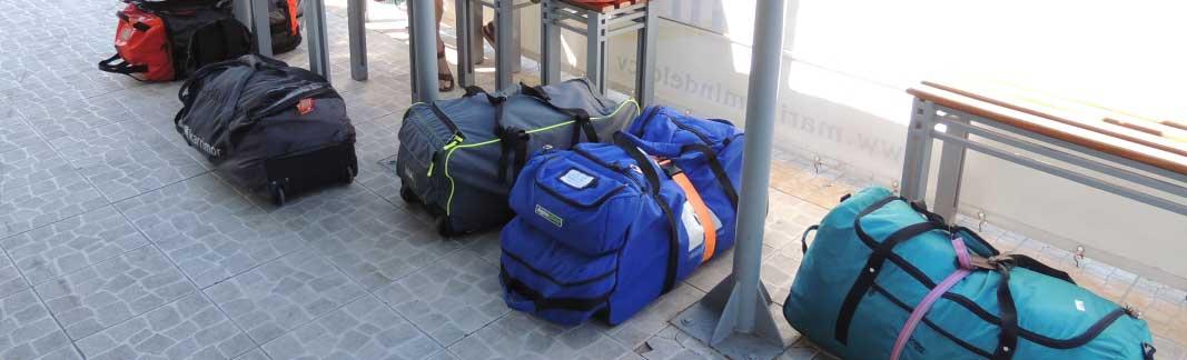 Taschen - Gepäck mit Ausrüstung